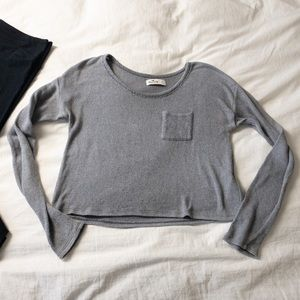 Hollister Cropped Loose Knit Long Sleeve - Sz S